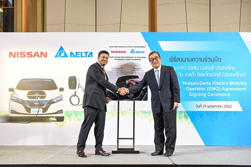 นิสสันจับมือเดลต้าแนะนำมาตรฐานเครื่องชาร์จรถยนต์ไฟฟ้า สำหรับที่อยู่อาศัยครั้งแรกในไทย