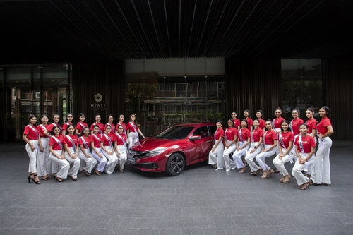 ฮอนด้า หนึ่งในผู้สนับสนุนหลักของการประกวด Miss Universe Thailand 2020 นำ ฮอนด้า ซีวิค สีใหม่ สีแดงอิกไนต์ รุ่น TURBO RS  ร่วมเป็นส่วนหนึ่งในกิจกรรม