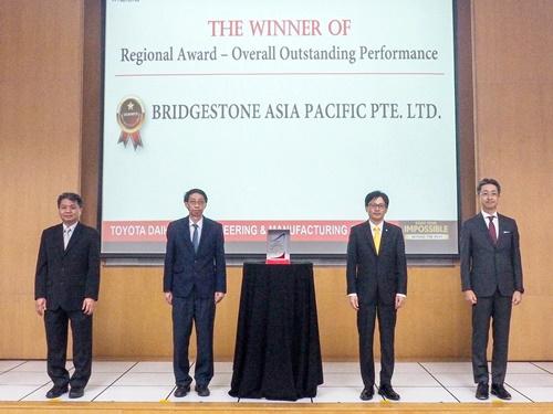"""บริดจสโตน คว้ารางวัลยอดเยี่ยม """"2020 Regional Overall Outstanding Performance Award"""" จากโตโยต้า"""